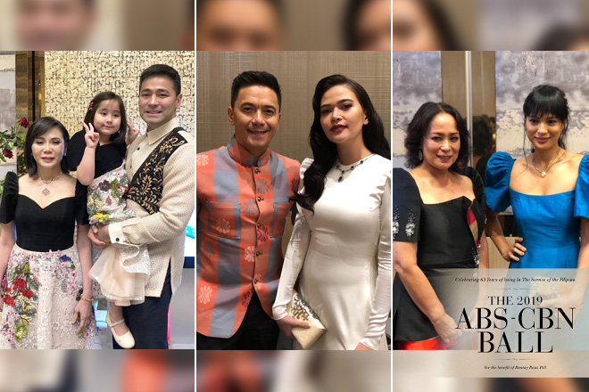 IN PHOTOS: Showbiz families who graced the ABS-CBN Ball 2019