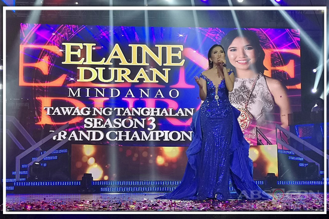 Elaine of Butuan emerges as newest Tawag ng Tanghalan Grand Champion